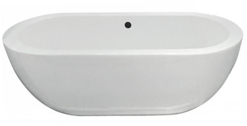 RO968M Vrijstaand bad EGG2 mat wit. Bad is voorzien van overloopgat Ø55 mm