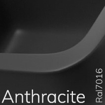 5050/42AANT TWIN SET 42 opzet wastafel met 1 kraangat - Kleur: ANTRACITE