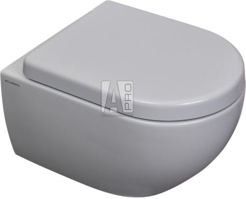 AP119G+QKCW03 SET: Mini wandcloset GoClean® + closetzitting SC  - GLOSSY WHITE