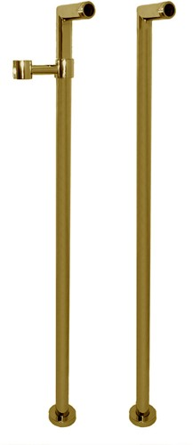 F2127OR Wellness - Pair of standpipes for deck mounted