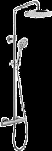 F4925/RP251CR Spillo UP opbouw douchethermostaatset met regendouche 250mm