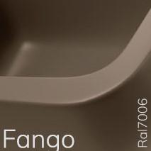 5050/42CFAN TWIN SET 42 opzet wastafel - Kleur: FANGO