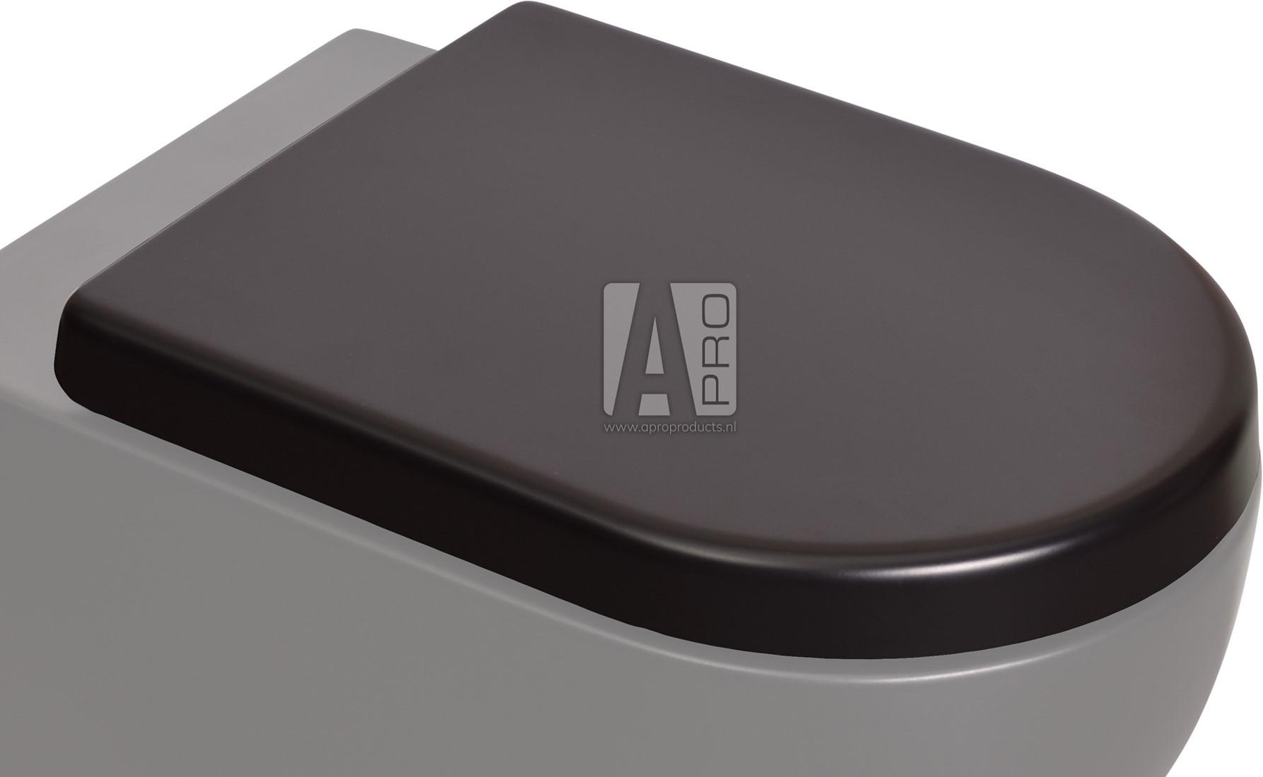 Geliefde QKCW03GRA App toiletzitting met soft-close en quick release Apro CU85