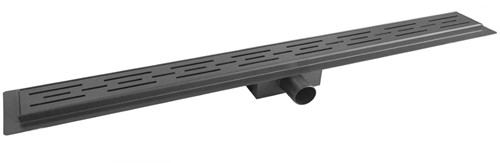 UD080VR Mat Zwart Douchegoot 80cm vloer met rooster - Mat Zwart