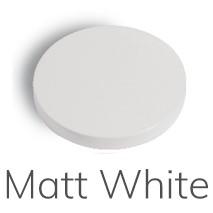 F3002BS.1 3002.1 WHITE MATT BIDET MIXER WITHOUT POP-UP WASTE L/SPOT