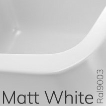 F6PS65LAT Wandmeubel FORTY6 van 80 tot 250 x 46 x h 10 cm voor wastafel geschikt PASS basins (PS65AT & PS62C) - Kleur: MILKY WHITE