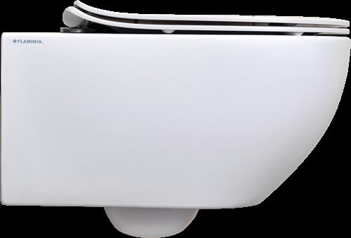 AP118G+QKCW05 SET: Wandcloset GoClean® + closetzitting SC ultra-plat - GLOSSY WHITE