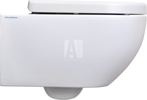 AP118G+QKCW03 SET: Wandcloset GoClean® + closetzitting SC  - GLOSSY WHITE