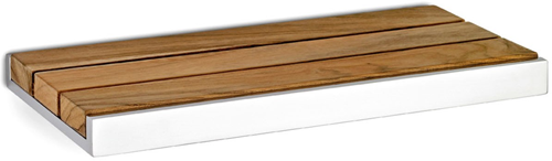 NA01G ACL SHOWER SHELF POLISHED STAINLESS STEEL & TEAK