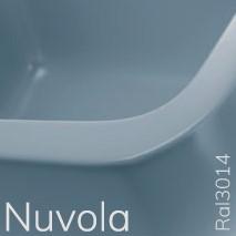 5050/42ANUV TWIN SET 42 opzet wastafel met 1 kraangat - Kleur: NUVOLA
