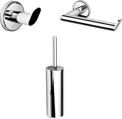 PZSET Plaza accessoires set voor het toilet bestaande uit de UT12, PZ11 en de PZ08