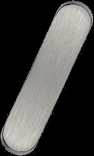 RO1004 Overloop en klik-waste Brushed Nickel RO416