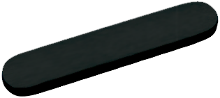 RO1005 Overloop en klik-waste -  MAT ZWART - RO476,524,598