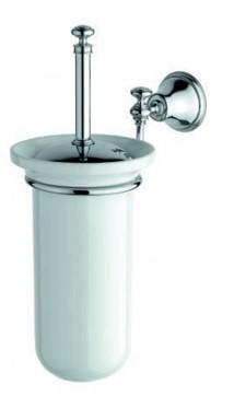 LI12 IBB British Toiletborstelgarnituur chroom met keramische pot