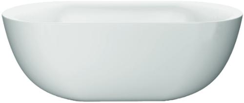 RO524M-BN Vrijstaand bad EGG mat wit incl mat witte overloop en klik-waste