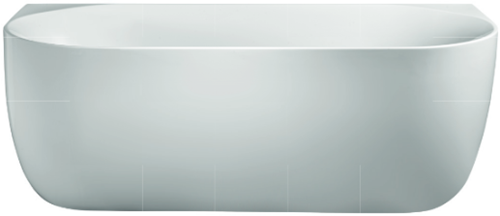 RO598M-BN Bad Back to wall LESS mat wit + brushed nickel