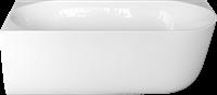 RO617LINKS Bad Back to wall uitvoering hoek links 170x75x60 cm glanzend wit