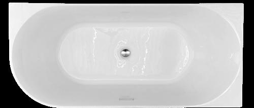 RO617RECHTS Bad Back to wall uitvoering rechts 170x75x60 cm glanzend wit