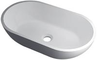 RO761 glans wit Vrijstaand Solid Surface opbouw kom glans wit