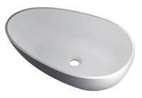 RO762 glans wit Vrijstaand Solid Surface opbouw kom glans wit