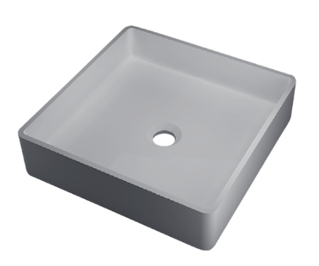 RO763 glans wit Vrijstaand Solid Surface opbouw kom glans wit