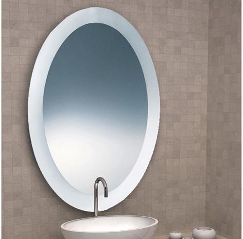 SP80S Ovale spiegel IBB 90 x 70 cm  met gezandstraalde rand
