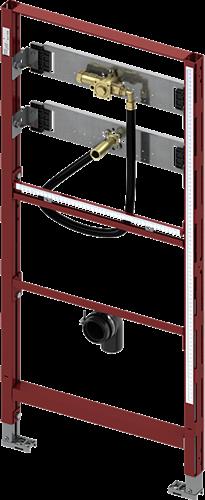 9320008 TECE urinoir-inbouwframe met TECE drukspoelerbehuizing U 1, bouw-hoogte 1120 mm.